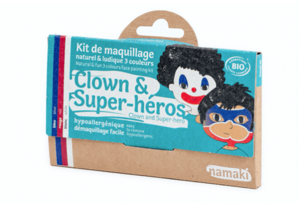 Kit de maquillaje payaso y superheroe